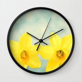 Spring Yellow Wall Clock