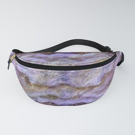 Abstract Mineral Amethyst Crystal Texture Fanny Pack