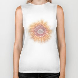 Mother Nature's Genius - White Outline Biker Tank
