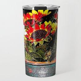 A Pretense Pot of Fabled Flowers  Travel Mug
