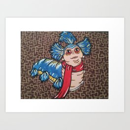 Labyrinth Worm Art Print