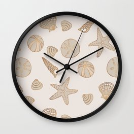 Beach Treasures Wall Clock