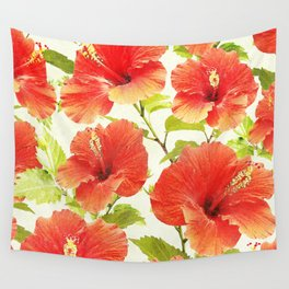 FLORAL PATTERN - HIBISCUS - Wall Tapestry