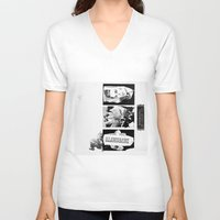 tulips V-neck T-shirts featuring Tulips by Paul Prinzip