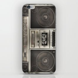 BoomBox retro casette recorder iPhone Skin