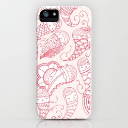 Ghostly Paisley: Bloodlust iPhone Case