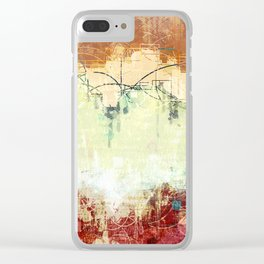 Vintage Abstract Art Clear iPhone Case
