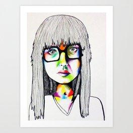 Color girl Art Print