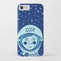 valentina iPhone & iPod Cases featuring Valentina Tereshkova by Emma Falconer
