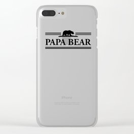 Papa bear Clear iPhone Case