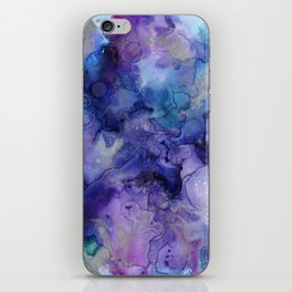 Abstract Watercolor, Ink Prints, Indigo, Blue, Purple iPhone Skin
