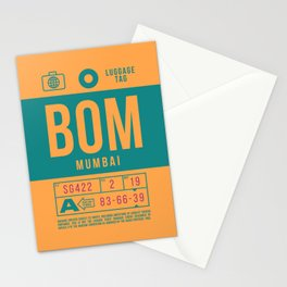 Baggage Tag B - BOM Mumbai Airport India Stationery Cards