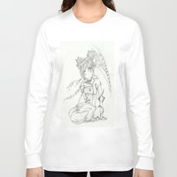 anime Long Sleeve T-shirts featuring Anime by Peggy Murphy