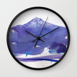 Mt. Hood watercolor Wall Clock