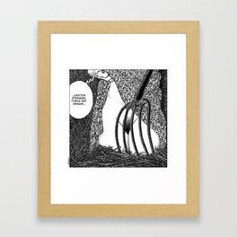 asc 588 - La fille dans la grange II (Caution Stranger, forks are danger) Framed Art Print