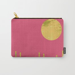 Yellow Moon Rising Carry-All Pouch