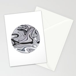 Minimal | Black & White Marble Stationery Cards