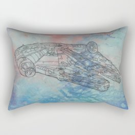 Millennium Falcon Sunset Sky Rectangular Pillow