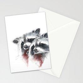Raccoons I Stationery Cards
