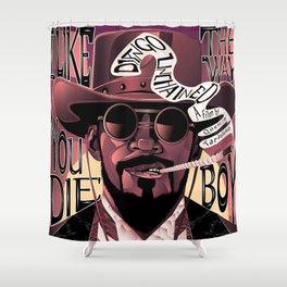 Django Poster Shower Curtain
