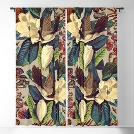 FLORAL AND BIRDS XXI-II Blackout Curtain