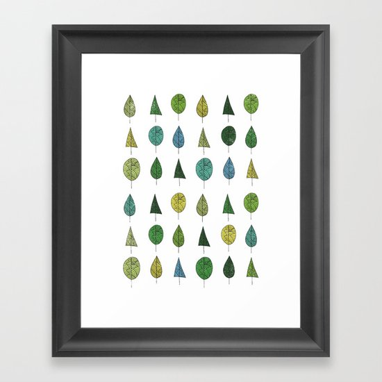 TREES MAKE A FOREST Framed Art Print
