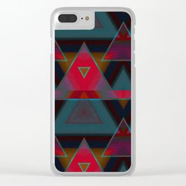 Triangle Abstract Pattern Clear iPhone Case