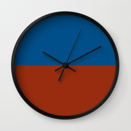 E for Echo nautical maritime flag Wall Clock