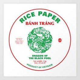 Banh Trang Rice Paper Art Print