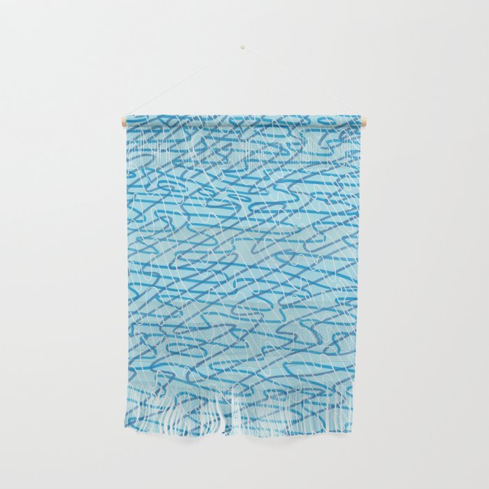 Blue Ripples Wall Hanging