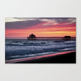 Surf City Sunsets   8/30/15   Huntington Beach California Canvas Print