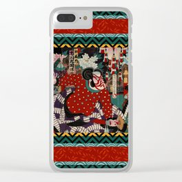 Kabuki Samurai Warriors Clear iPhone Case