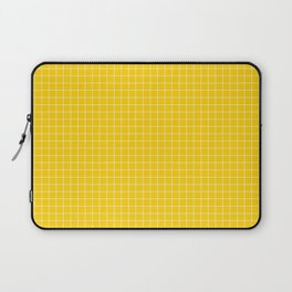 Yellow Grid White Line Laptop Sleeve