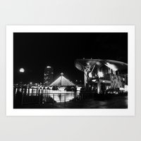 river song Art Prints featuring Song Han river by boxphone