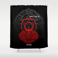 archer Shower Curtains featuring Fate/Zero Archer by Dark Angel_Huang