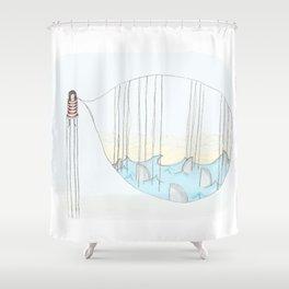 Toen bleek het een goudvis..... Shower Curtain