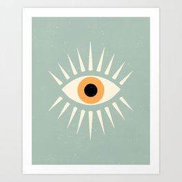 Yellow Eye Art Print