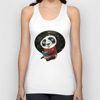 red panda Tank Tops featuring Panda by gunberk