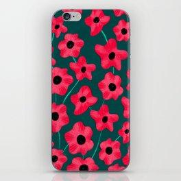 Poppies' field iPhone Skin
