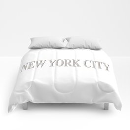 New York City (type in type on white) Comforters