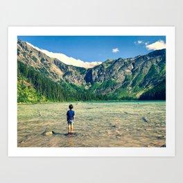 Avalanche Lake, Montana Art Print