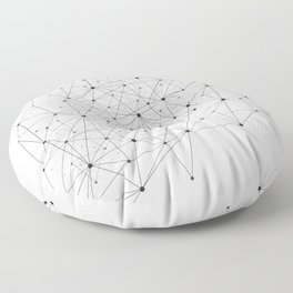 Networks concept and cloud computing, structure of society, variants of decisions, neural network Floor Pillow