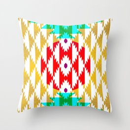 050 - traditional pattern interpretation with golden foil Throw Pillow