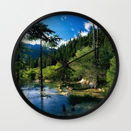 Mountain Forest Lake Wall Clock