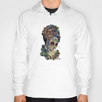fitzgerald Hoodies featuring Marie de los Muertos by Cathy FitzGerald