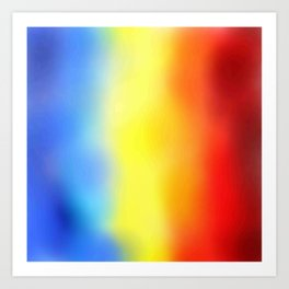 Flag of romania 7 - with cloudy colors Art Print