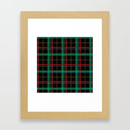Fall Flannel at Night Framed Art Print