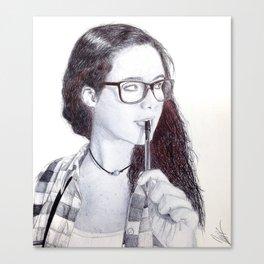 Chewed Ink Canvas Print