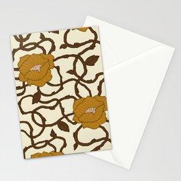Wavy Nouveau Stationery Cards