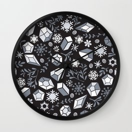 Winter diamonds Wall Clock